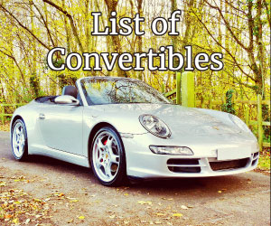 List Of All Convertible Car Models
