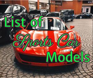 List Of All Sports Car Models