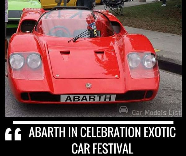 Abarth Celebration Exotic Car Festival
