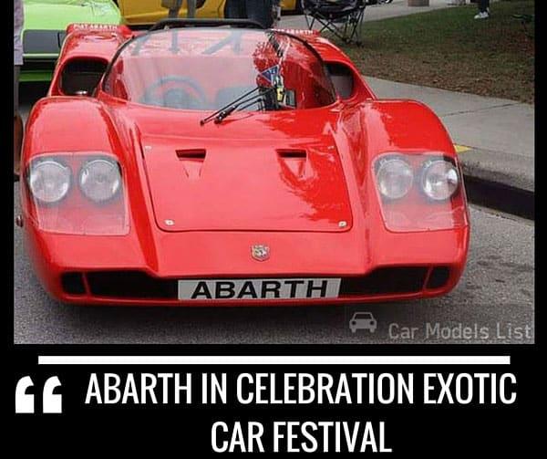 Abarth Celebration Exotic Car Festival
