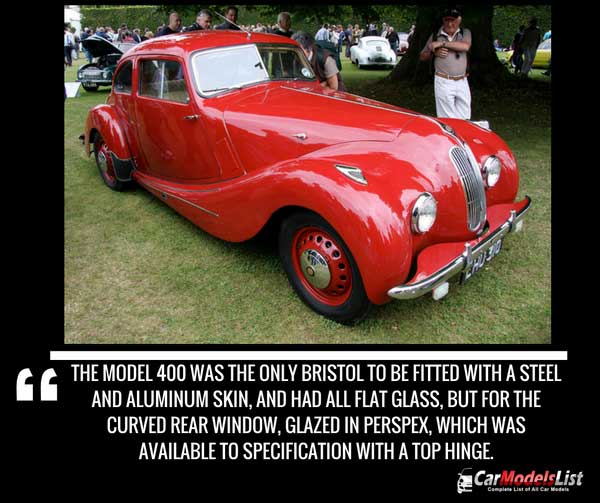 Bristol 400 car model history and trivia