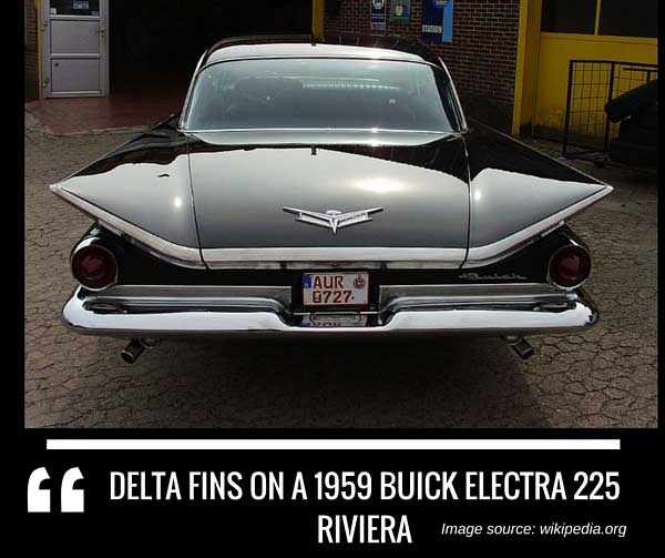 Delta Fins on a 1959 Buick Electra 225 Riviera