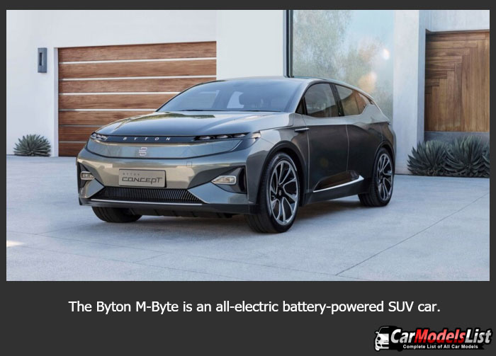 The Byton M Byte is an all electric battery powered SUV concept car