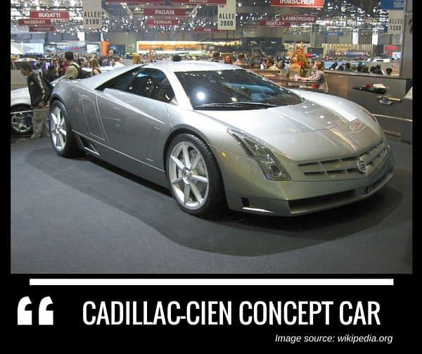 Cadillac Cien concept car by cadillac