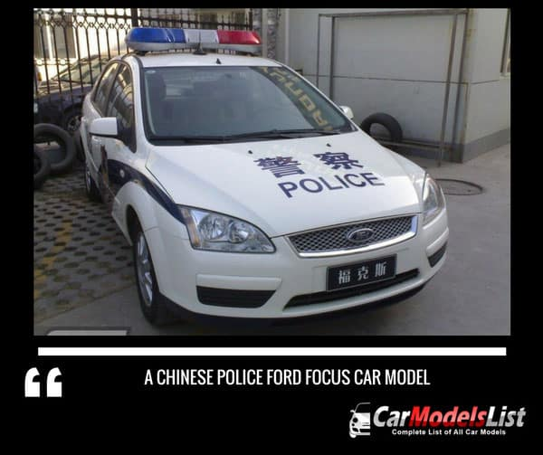 A Chinese police Ford Focus car model