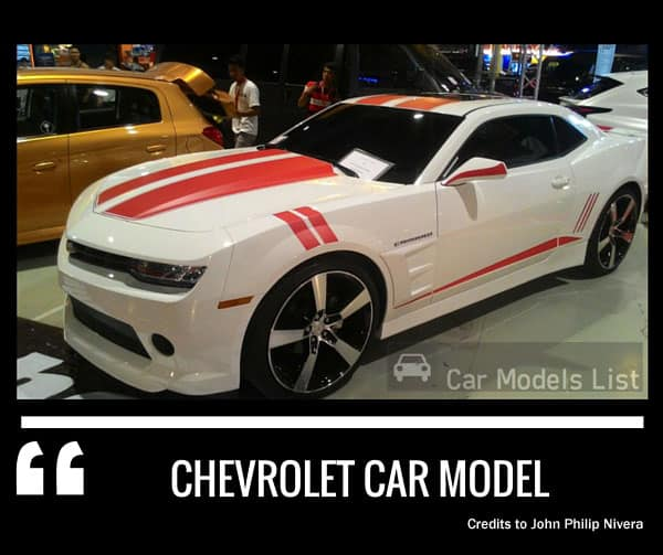 Chevrolet Car Models List  Complete List of All Chevrolet Models