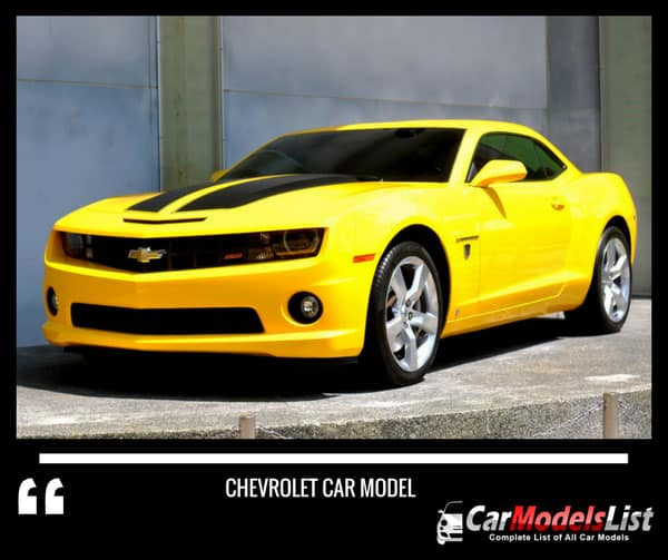 All Chevrolet Models  Full list of Chevrolet Car Models  Vehicles