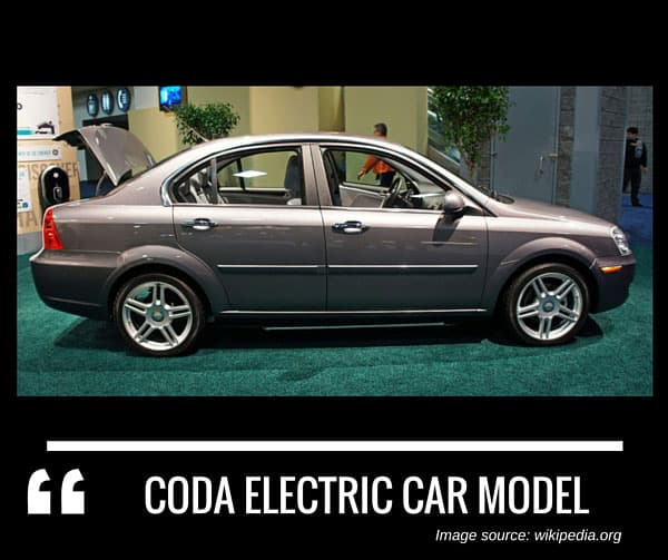 Coda electric car model