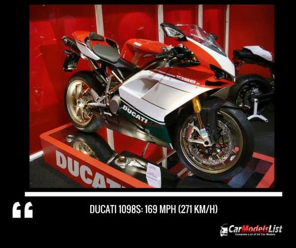 Ducati 1098s motorcycle model