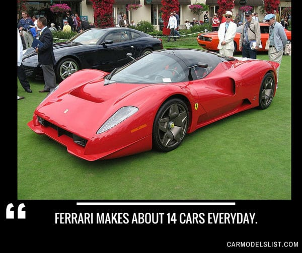 Ferrari makes about 14 cars everyday