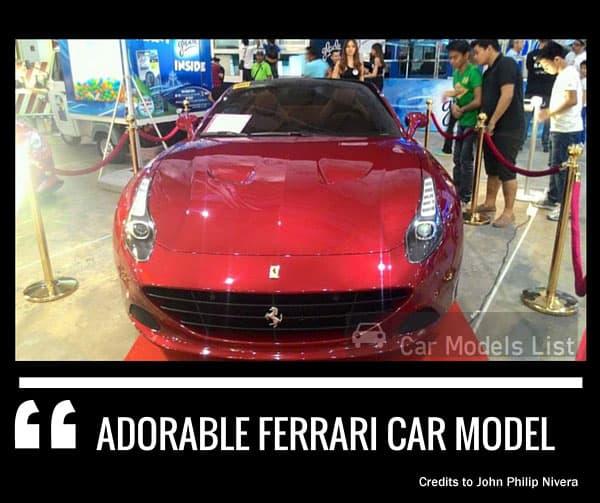 Adorable ferrari car model