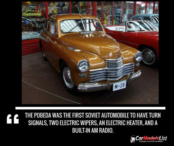GAZ M20 Pobeda car model