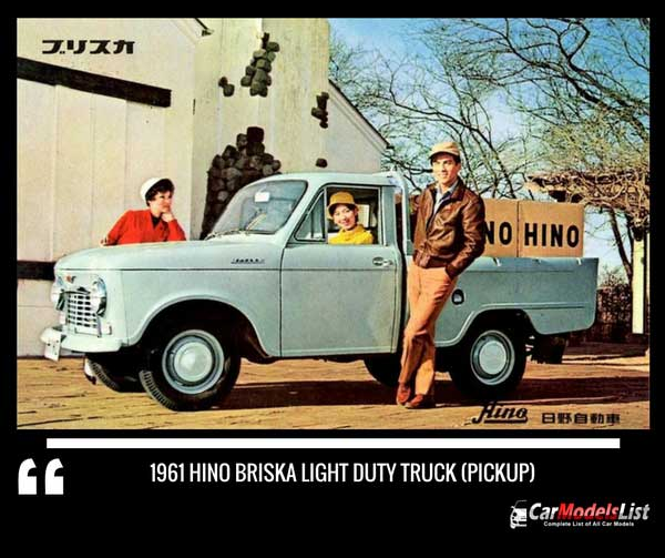1961 Hino Briska Light Duty Truck (Pickup)