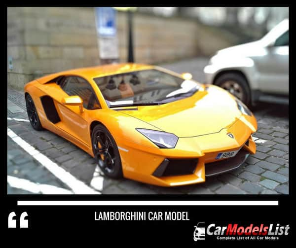 Lamborghini Car Models List