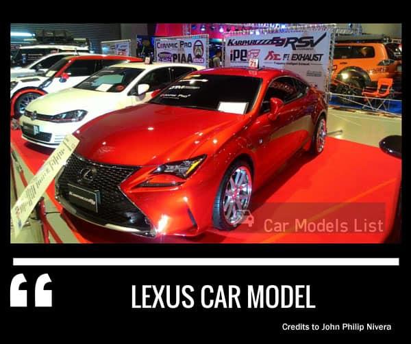 Lexus car model