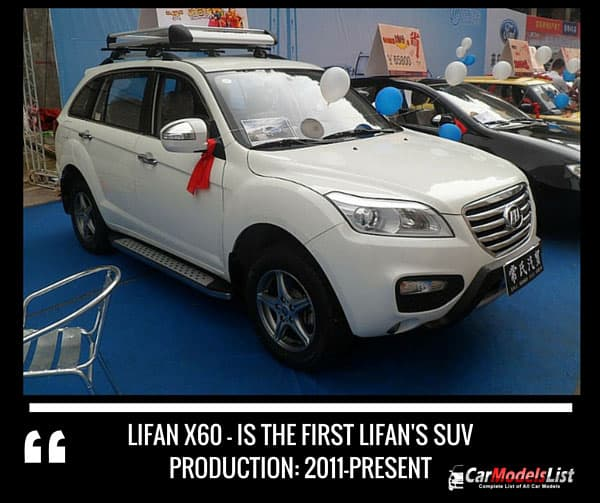 Lifan X60 the first Lifan suv