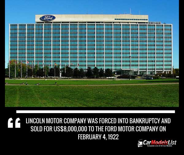 Lincoln Company Sold to Ford