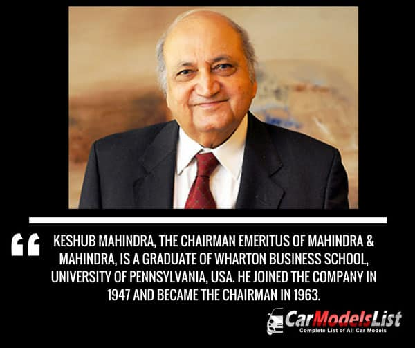 Chairman of Mahinda Company
