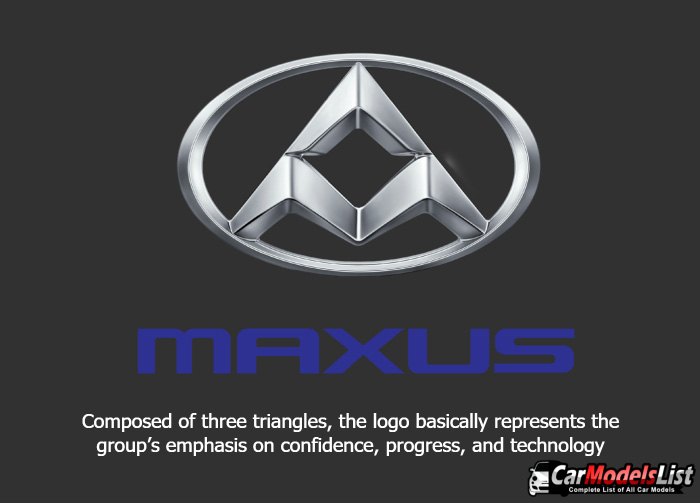 Composed of three triangles the logo basically represents the groups emphasis on confidence progress and technology