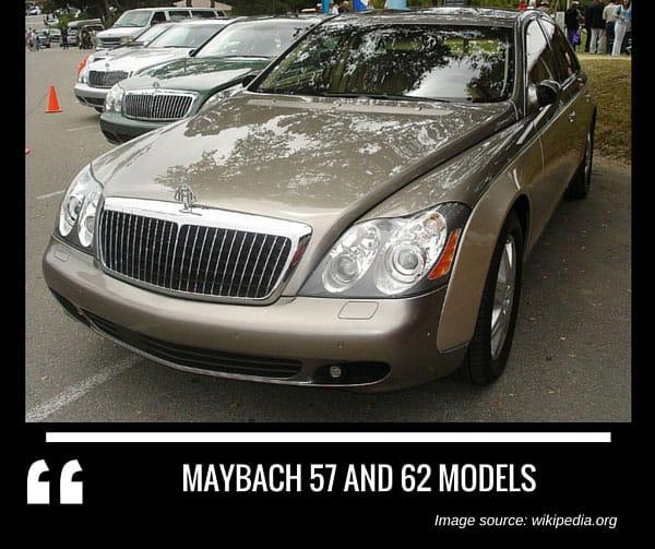 Maybach 57 and 62 models