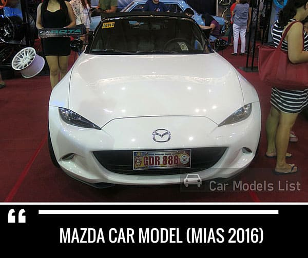 Mazda car model mias 2016