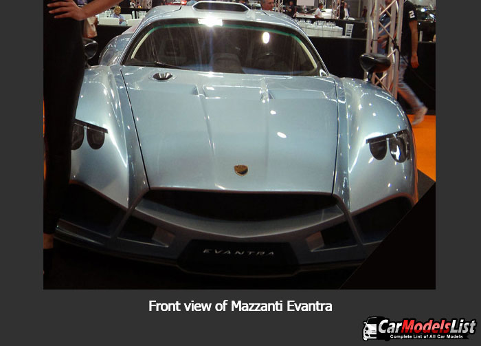 Front view of Mazzanti Evantra