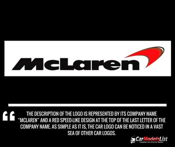 Mclaren car logo meaning and description