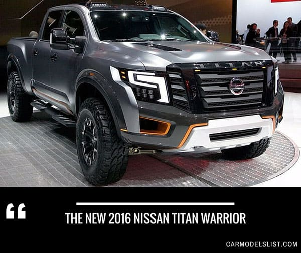 The new 2016 nissan titan warrior