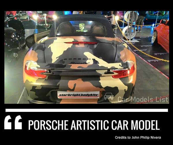 Porsche artistic car design