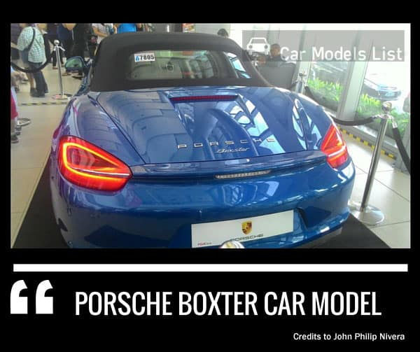 Porsche boxter car model