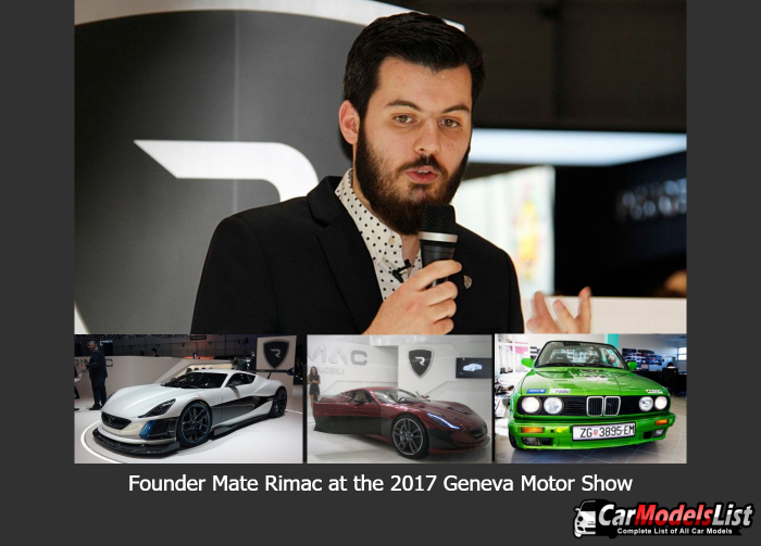 Founder Mate Rimac at the 2017 Geneva Motor Show