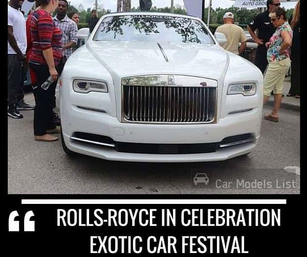 Rolls royce in Celebration Exotic Car Festival