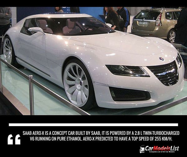 Saab Aero X is a concept car built by Saab Company