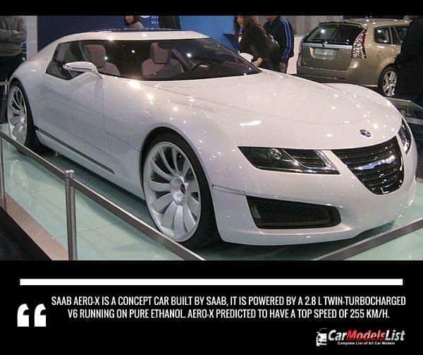 Saab Aero X is a concept car built by Saab Company