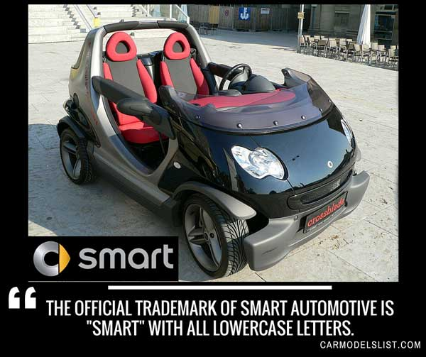 The official trademark of Smart Automotive is smart with all lowercase letters.