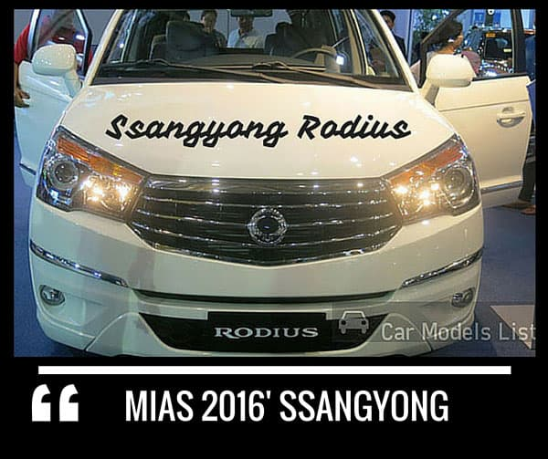 Ssangyong rodius car model