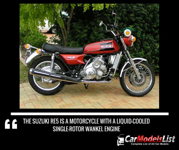 Suzuki RE5 M2 model trivia