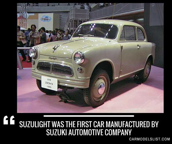 Suzulight was the first car manufactured by Suzuki automotive company