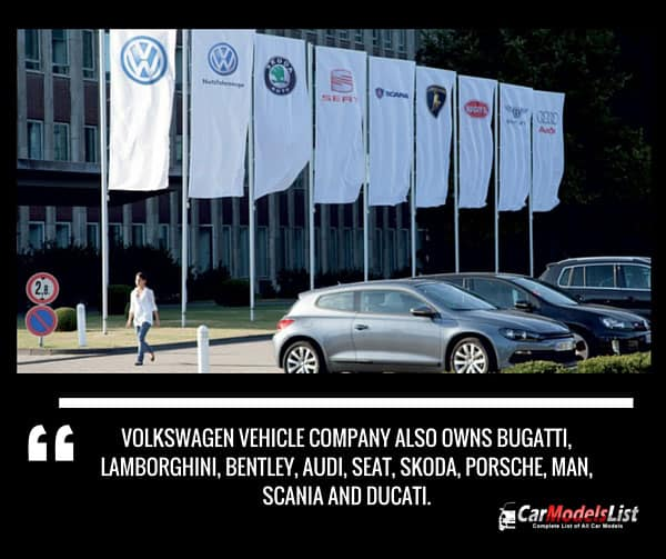 Other Car Companies Owned by Volkswagen