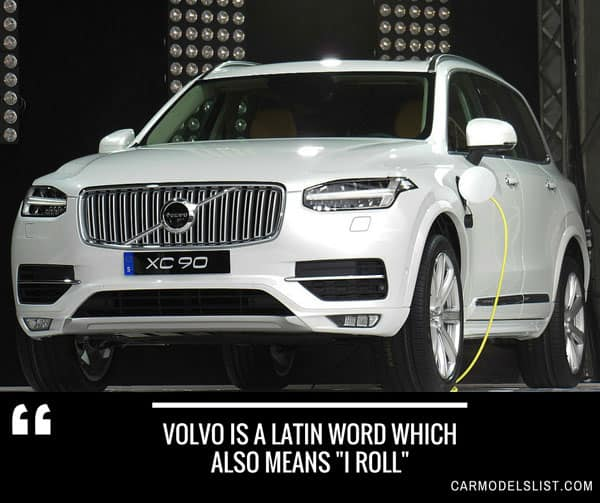 Volvo is a latin word which also means I roll