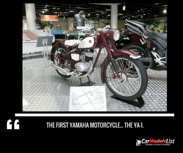 The first Yamaha motorcycle... the YA 1