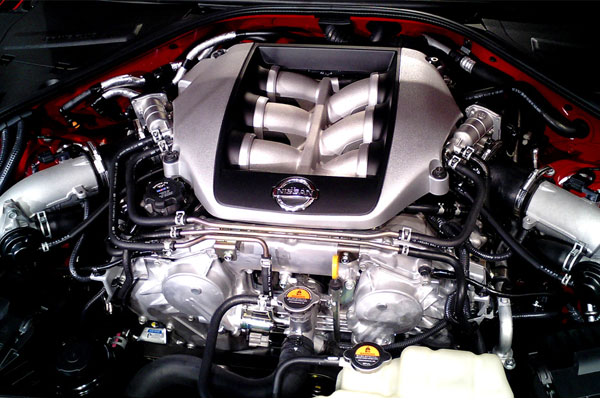The Nissan GT-R VR38DETT engine