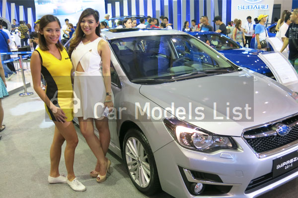 Lovely ladies of subaru cars