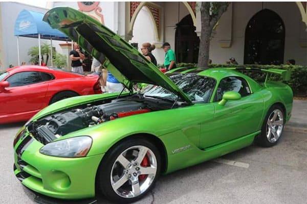 green-exotic-car