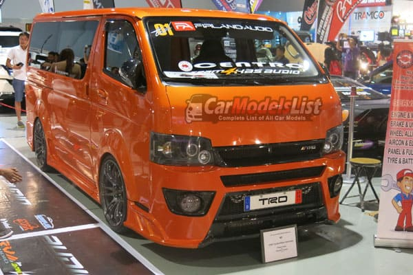 Toyota HIACE van model from the 25th Trans Sport Show