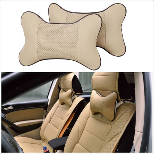 Car Vehicle Seat Hole-digging Breathable Head Neck Rest Cushion Headrest Pillow