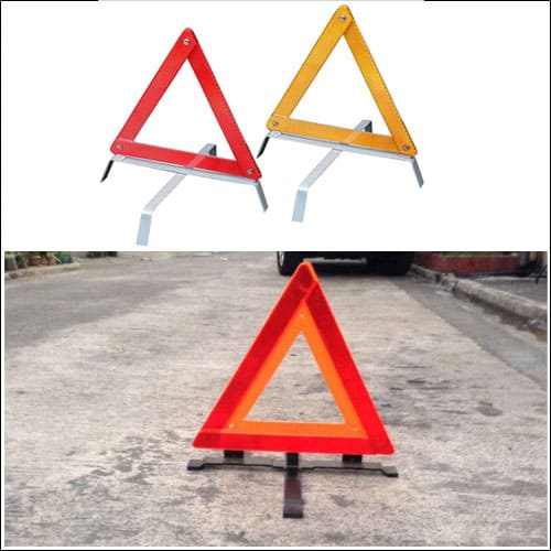 EWD Early Warning Device Triangle Sign with Hard Case Road Car Safety Emergency (Set)