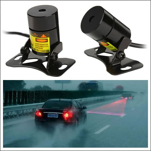 Newest Anti Collision Rear-end Car Laser Tail Fog Light Auto Brake Parking Lamp Warning Light