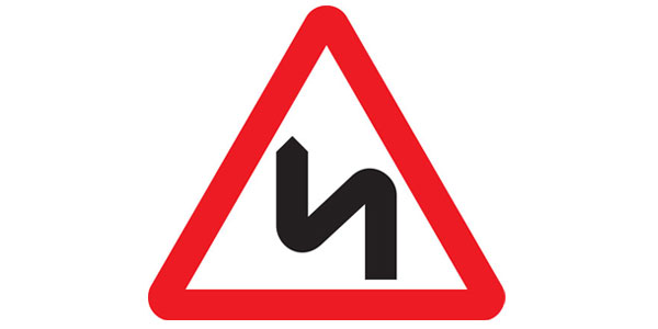 Double bend ahead