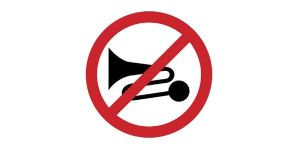 Excessive Noise Prohibited Sign